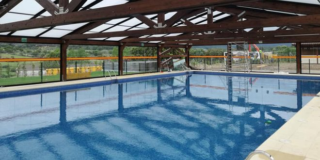 El s bado 30 de junio tamaj n inaugura su piscina municipal con techo cubierto para permitir - Techo piscina cubierta ...