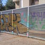 Unos grafiteros ponen en peligro el tráfico de la autovía al cruzarla mientras huían de la policía