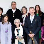 La escritora uruguaya Ida Vitale recibe el Premio Cervantes de manos de Felipe VI