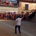 Cinco heridos en el encierro de Cañizar, cuatro de ellos menores, al saltar un toro sobre el muro en el que se encontraban