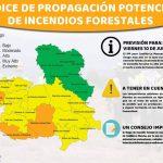 El riesgo de incendios forestales en la provincia de Guadalajara pasa del color amarillo al verde este viernes 10 de julio por la bajada de temperaturas