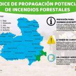 Las lluvias y las bajas temperaturas mantienen bajo el riesgo de incendio forestal en la provincia de Guadalajara este domingo 20 de septiembre