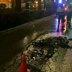 Cerrado al tráfico un tramo del paseo del Dr. Fernández Iparraguirre tras descubrirse un grave deterioro del asfaltado