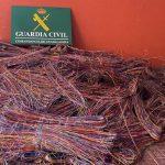 Cuatro detenidos por el robo de 820 metros de cable telefónico que dejó sin Internet a varios municipios de la comarca de Molina en lo más duro de la borrasca Filomena
