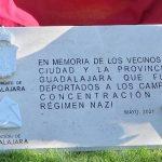 Las víctimas alcarreñas del Holocausto nazi ya tienen un monumento en el parque de la Concordia de Guadalajara: 129 deportados y 89 de ellos asesinados